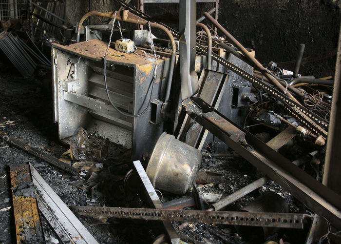 Abandonned Abandonned Building Arson  Deterioration Dirty Factory Large Group Of Objects Messy No People