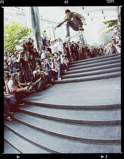 the boss doing what he is best know for Fsflip Skateboarding Skateanddestroy Skateeverydamnday