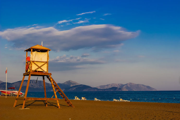 Turkey Architecture Beach Beauty In Nature Built Structure Cloud - Sky Day Hut Land Lifeguard Hut Lookout Tower Nature Outdoors Protection Safety Scenics - Nature Sea Security Sky Tower Water