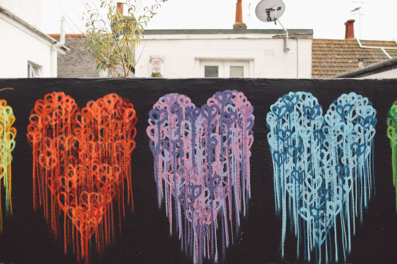 Abundance Arrangement Art Choice City Close-up Colorful Day Graffiti Growth Hearts In A Row Market Stall Multi Colored Nature No People Outdoors Side By Side Streetart Variation Colour Of Life Welcome To Black Art Is Everywhere