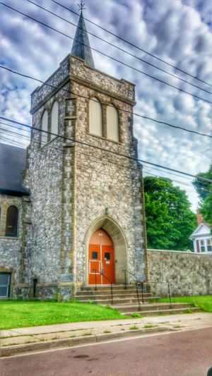 Cobblestone Church Historical Intriguing Mystery Vivid Beholding Church Tower