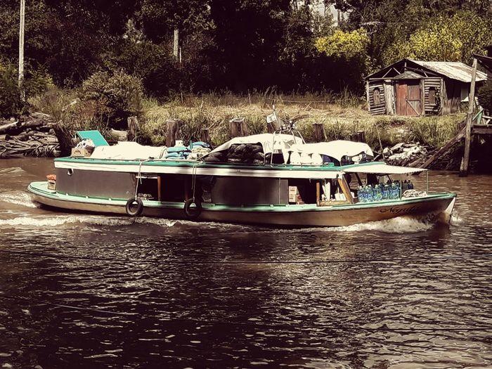 Rio Río Espera Isla Delta Rio Esera Lancha Almacen Water Nautical Vessel Moored Waterfront