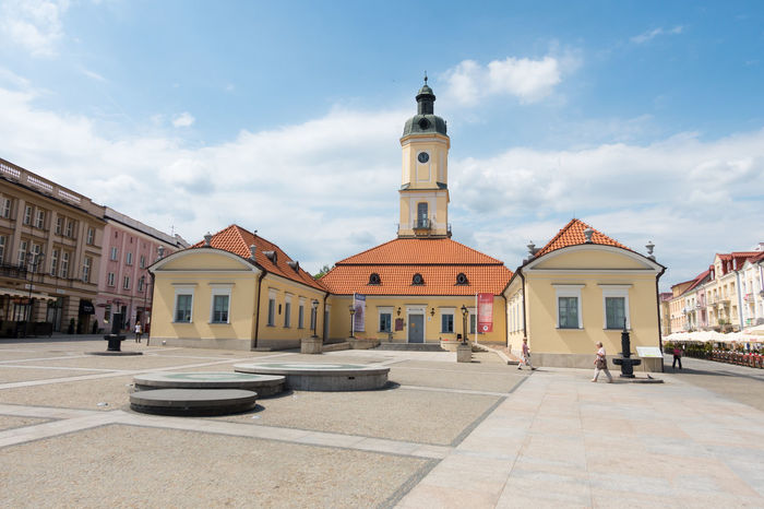 Museum Of Podlasie Poland Architecture Bialystok Building Exterior Built Structure City Clock Tower Cloud - Sky Day Outdoors Sky