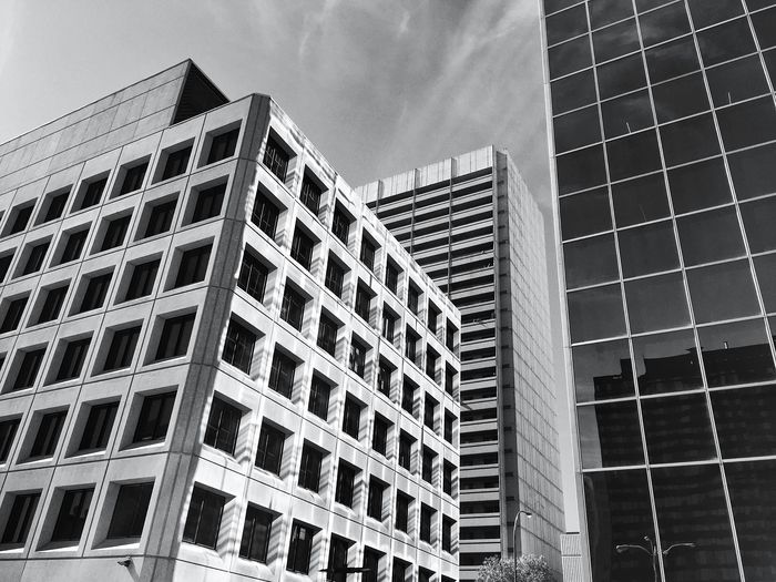 Office buildings. Architecture_collection Architecture_bw Architectural Detail Reflections Lightandshadow Skyline Architecturelovers Bnw Cityscapes Downtown