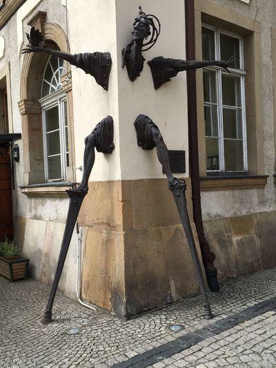 Hirschberg Schlesien Statue Stalker Stalking Walker Famous Place Jelenia Gora Silesia