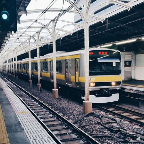 Surprisingly empty for how mildly crowded the trains are this morning. I'm finding that speed walking between trains and in crowds is like riding a bike. || Trainstation Train Japan Visitjapan vsco vscocamvscobeau vscotravel travelgram travel tokyo trains