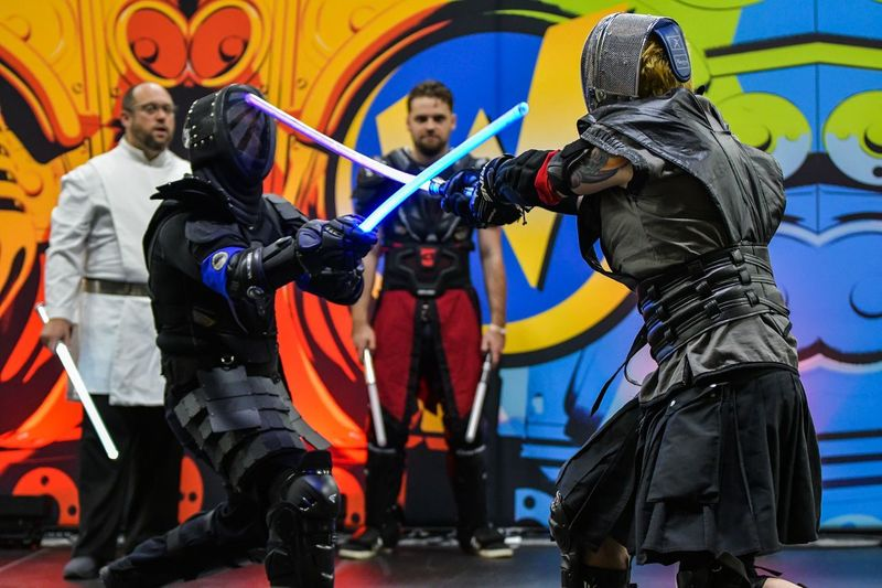 Nikon Columbus, Ohio Jedi Starwars Fencing Comicon Ohio, USA Sports Swordplay