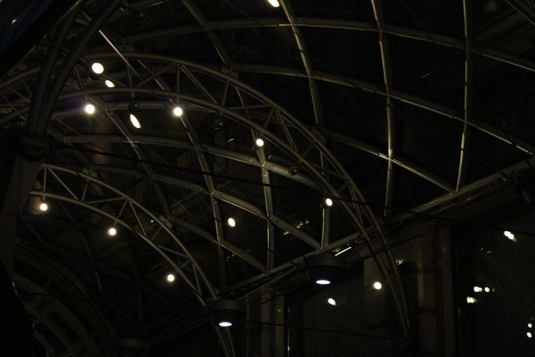 Illuminated Low Angle View Architecture Lighting Equipment Built Structure Ceiling No People Arts Culture And Entertainment Light - Natural Phenomenon Pattern Geometric Shape Building Travel Destinations Metal Indoors  Night Hanging Light Modern