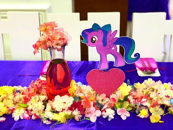 Eyegasm Colorful Birthday Party Theme Party Unicorn Flower Purple Multi Colored No People Close-up