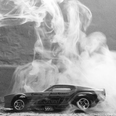 burnout. Toysphotography Art