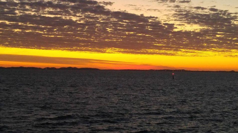 sunset at sea Godiscoversummer Sunset Sunrise Maritime Sailing Navigation Light Navigation Clouds Water