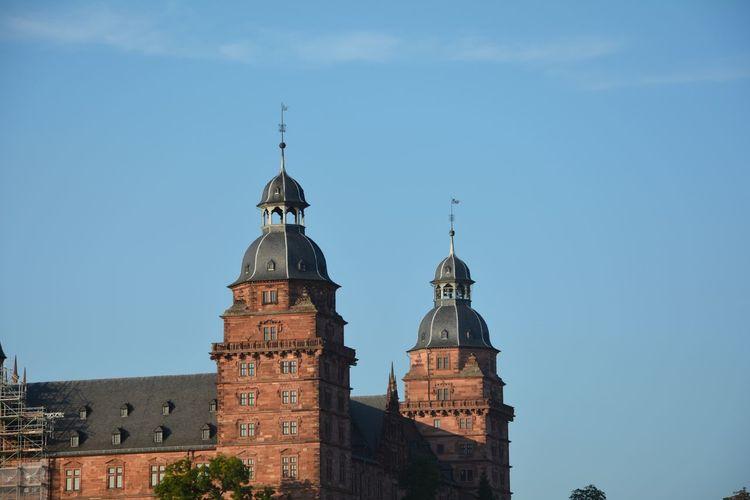 Historic building against sky, in aschaffenburg, bavaria, germany
