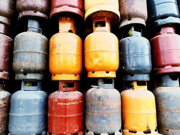 Gas Carafe Metal Danger Large Group Of Objects No People Day Market Colours Love To Take Photos ❤ Outdoors EyeEmNewHere Close-up EyeEm Best Shots Multi Colored Relaxing Retail  Tanu Break The Mold Paint The Town Yellow