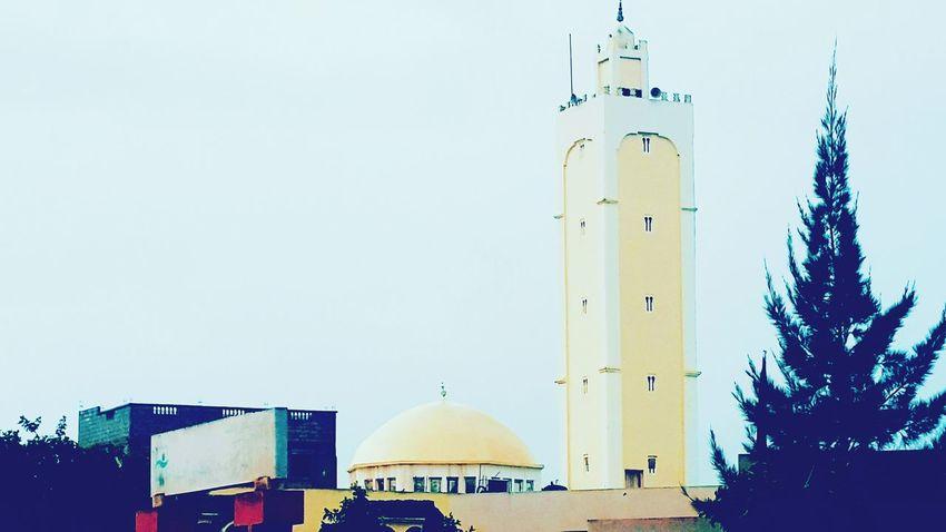 Mosque Masjed  Outdoors Sky Day Architecture No People Cloud - Sky Street Real Life Building Exterior Beautiful City Tree Morocco Faith Dream Hope.✌ Salah صورتي صومعه؛ مسجد مغرب