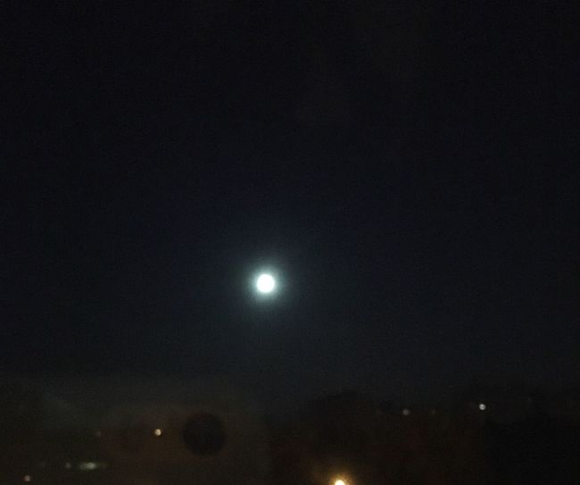 New day rising, and a giant f-ing moon. Night Moon Sky Astronomy Low Angle View No People Nature Outdoors Solar Eclipse Beauty In Nature Space