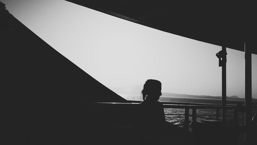 Ship deck Silhouette One Person People Real People Human Body Part Sky Day Fine Art Photography Canon 5d Mark Iv Young Women Mode Of Transport Old-fashioned Canonphotography City Beauty Side View Idyllic Tranquility Reflection EyeEm Best Shots Eyeemphotography Eye4black&white  Textured  Welcome To Black BYOPaper! The Portraitist - 2017 EyeEm Awards