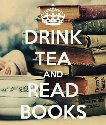 Dring Tea And Reading Books