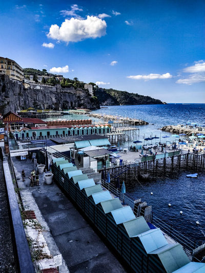 EyrEmNewHere Sorrento Italy Coast View Panorama Colorful Water Sea Beach Summer Blue Nautical Vessel Sky Horizon Over Water Cloud - Sky Scenics Idyllic Seascape EyeEmNewHere My Best Photo