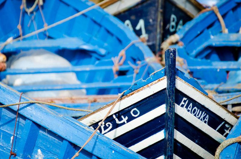 Close-up of sailboat