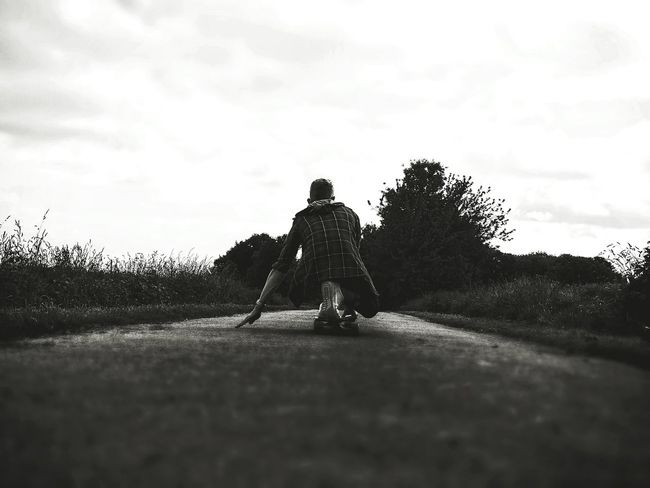 The time seems stopped when you riding <3 Longboard Blackandwhite Longboarding Love Life Time