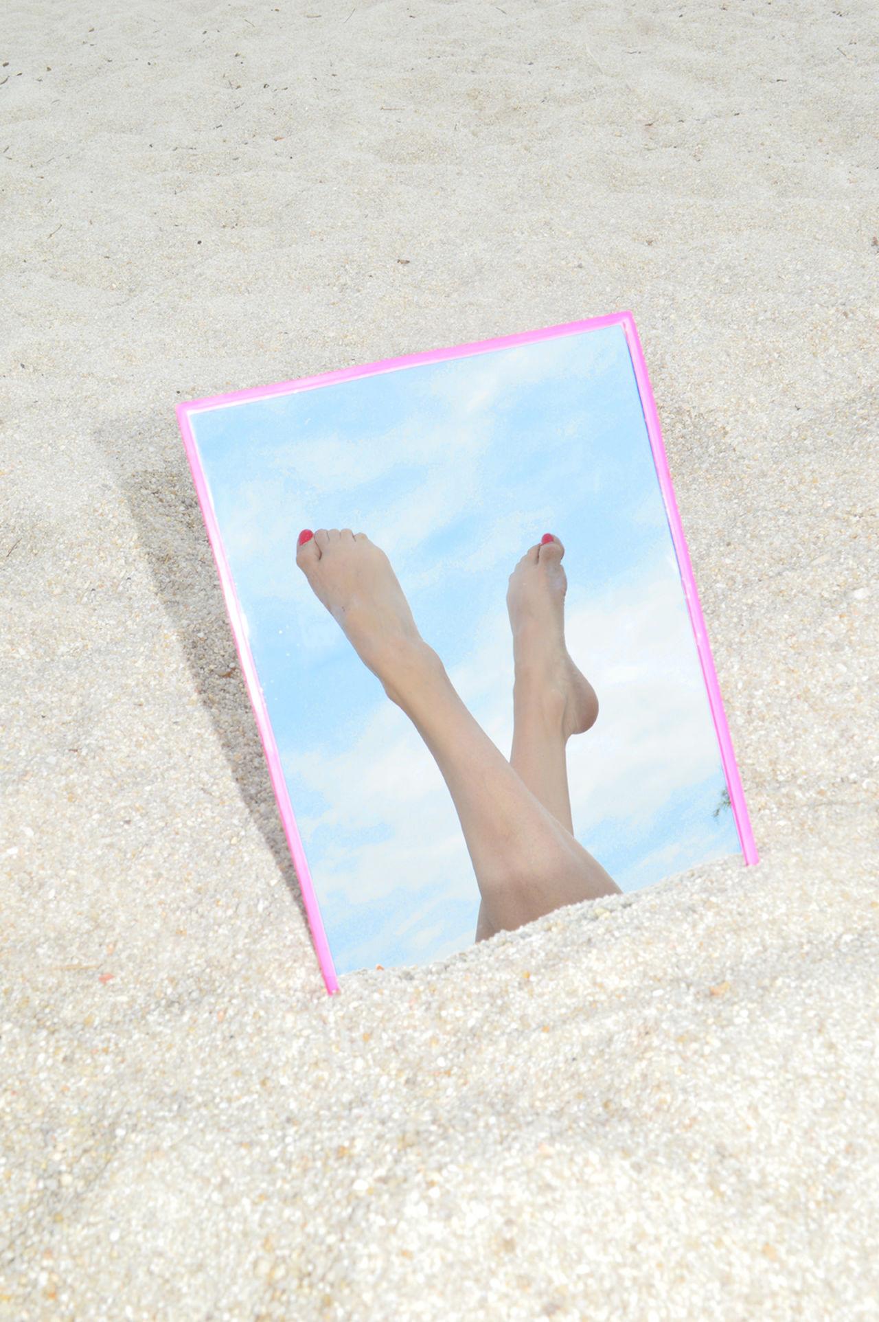 Barefoot, Beach, Day, Feet Up, Human Foot