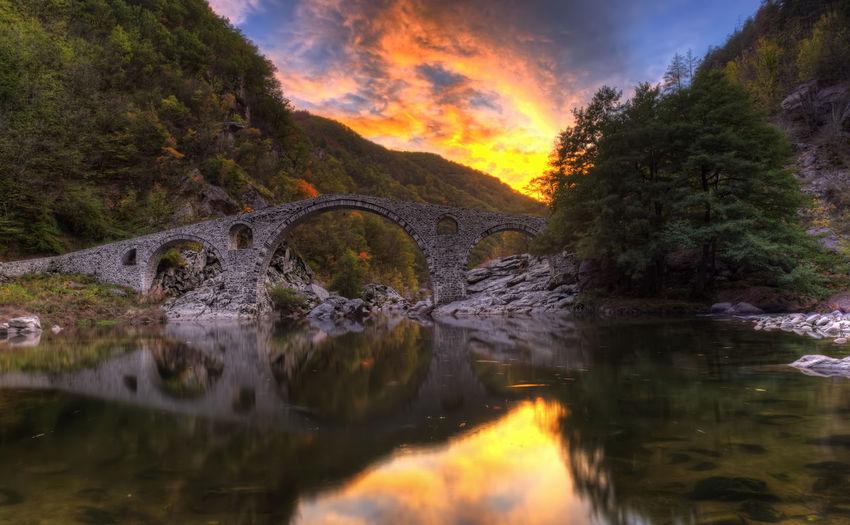 Devil's bridge in Bulgaria HDR Beauty In Nature Bridge Bridge - Man Made Structure Cloud - Sky Devil's Bridge Landscape Long Exposure Nature Reflection Water