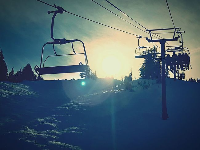 The Calm Before The Storm Outdoors Sky Tree No People EyeEm Ready   Ski Lift Nature Beauty In Nature Transportation