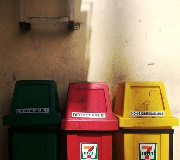 Things to their places. Recycle Trashbin Streetphotography Segregation  How Do We Build The World?
