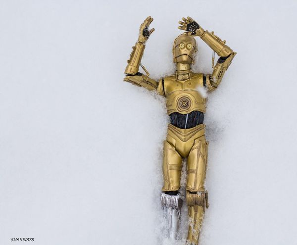 Oh my what have I gotten myself into. Anyone have any WD40? Plasticcrack C3p0 Starwarstoys Toyphotographers Toyphotography Toysoutdoors Toyboners Theforceawaken