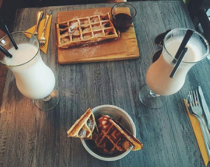 A Taste Of Life Wafles Milkshake Relaxing Tasty Love Food, Love Life.