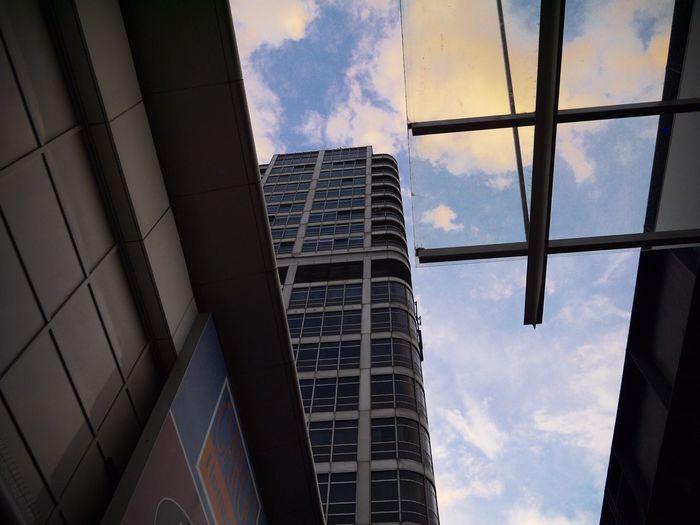 Looking up at the DMJ building David Murray John Building Swindon Sky Look Up Brutalist 1970s