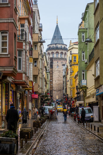 Galata Tower Architecture Beyoğlu Building Exterior Built Structure Business Finance And Industry City Cityscape Day Europe Galata Tower Galatakulesi Istanbul Multi Colored No People Outdoors Sky Tourism Travel Travel Travel Destinations Turkey Türkiye