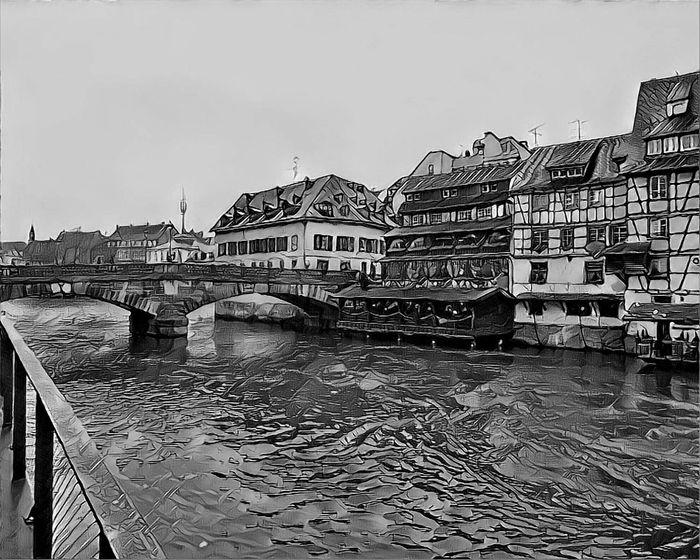Blackandwhite Bridge - Man Made Structure River Riverside River View