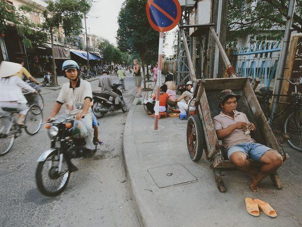 Cigarette break. Vietnam Vscocam Cigarette Break Street Portrait