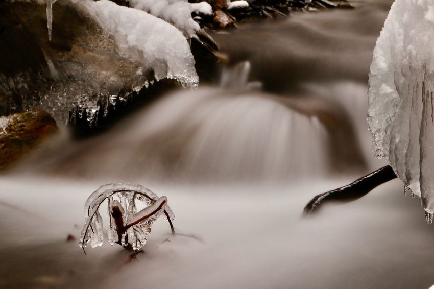 EyEmNewHere EyeEm Best Shots EyeEm Gallery EyeEm Best Edits Beauty In Nature Pyrenees Beauty In Nature Blurred Motion Close-up Cold Temperature Day Long Exposure Motion Nature No People Outdoors Water Waterfall Winter