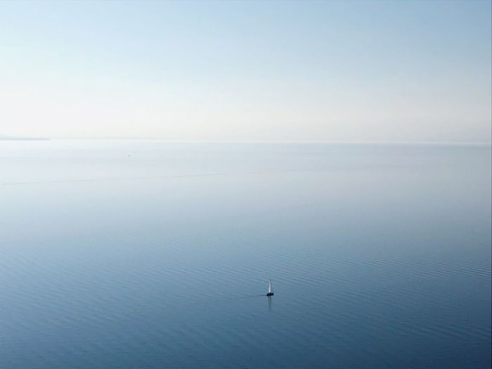 Water Scenics - Nature Beauty In Nature Sea Tranquil Scene Tranquility Sky Outdoors Copy Space Land Clear Sky Non-urban Scene Idyllic Horizon Over Water Day Remote Blue Horizon Waterfront Nature My Best Photo