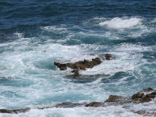 Water Sea Wave Nature Beauty In Nature Scenics Power In Nature Rippled Day Splashing Tranquil Scene Outdoors Tranquility Waterfront Non-urban Scene Solitude Majestic Summer Rock Formation Shore Coastline Rock - Object EyeEm Best Shots Rock Formation Ocean Done That.