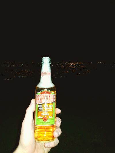 cheers Desperados Beer Wiew Italy Amazing Night Earth Human Hand Black Background Perfume Sprayer Alcohol Drink Perfume Holding Bottle Aerosol Can Close-up Bottle Cap Corkscrew Bottle Opener Ice Cube Wine Cork Ice Tea Drinking Straw