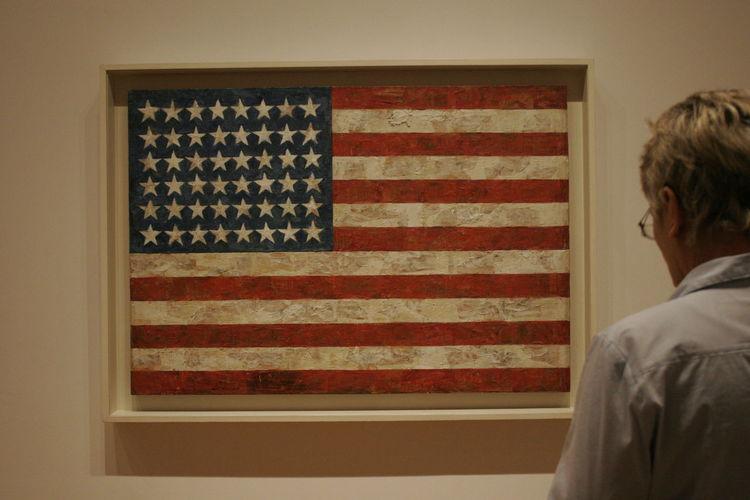 Jasper Johns Enjoying Life Snapshot NYC Moma America