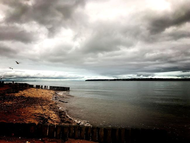 Shoreline EyeEmNewHere Seascape Photography Sea And Sky Sea_collection Sea View Stormy Sky Sea Beach Water Cloud - Sky Horizon Over Water Scenics Nature Sky Beauty In Nature Wave Be. Ready.