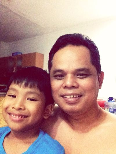 with my son ....