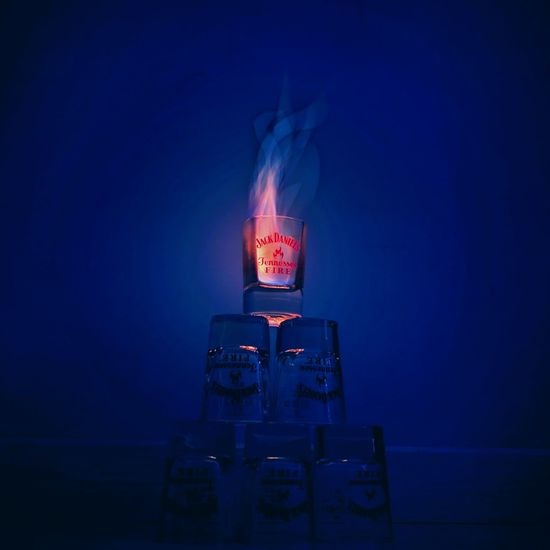 Jack Daniel #FLAME #JackDaniels #life #firework #theend #dangerous #alcohol #fire #art #arts People Indoors  Illuminated