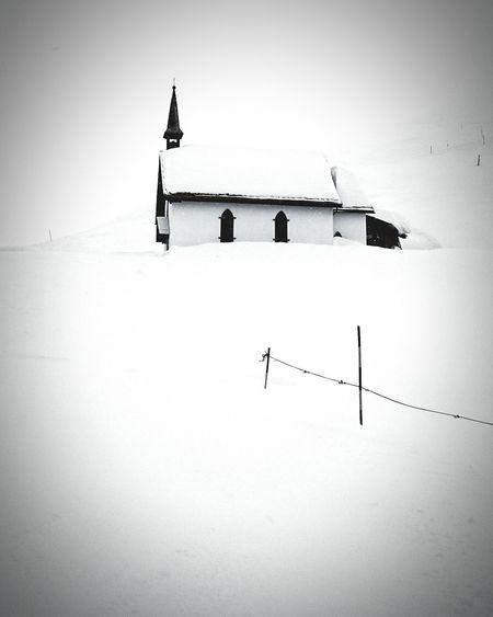 Snow Mountain Monochrome Alpine Chappell