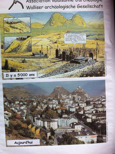Petite affiche qui en dit long! Archeologie Le Temps Passe...