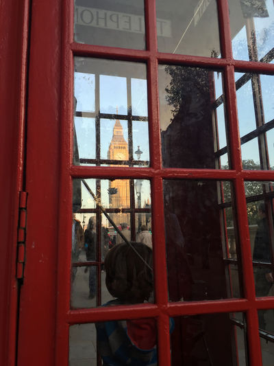 London calling, we are answering Bigbench Day London London Calling Phonebooth Toddler  Travel Window