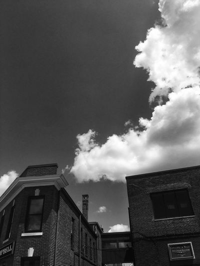 Art is Everywhere Blackandwhite Architecture Architecture Built Structure Building Exterior Sky Building Cloud - Sky Low Angle View No People City Outdoors Day Industry Office Building Exterior