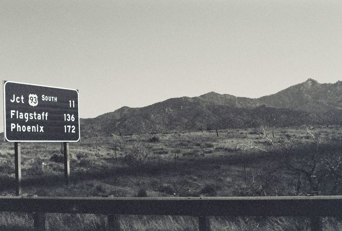 Road To Nowhere B&w B&w Street Photography Beauty In Nature Black And White Black And White Photography Landscape Mountain Mountain Range Nature On The Road Road Road Sign Road Trip Tranquility Warning Sign