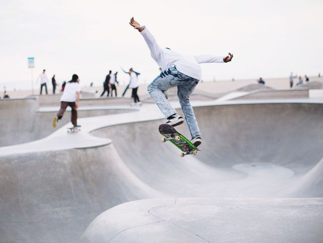 Flying Skateboard Skateboarding California Venice