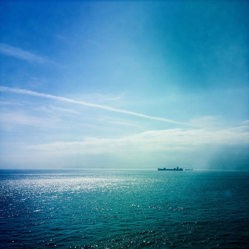 Beauty In Nature Blue Cloud - Sky Gibraltar Horizon Horizon Over Water Mode Of Transportation Nature Nautical Vessel No People Outdoors Scenics - Nature Sea Ship Sky Tranquil Scene Tranquility Transportation Water Waterfront