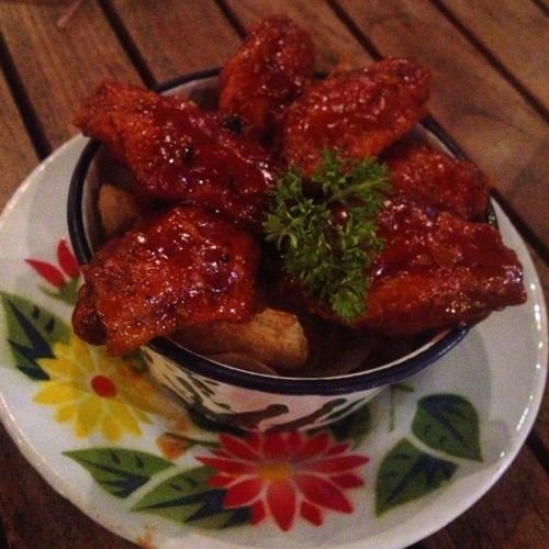 Buffalo wings in the Thai zinc bow Let's let ?